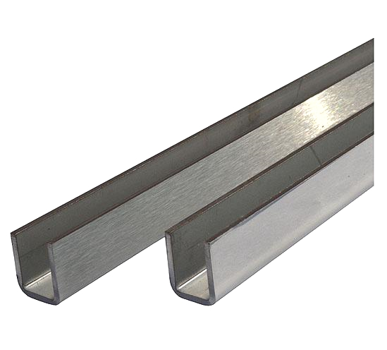 Stainless Steel U-Channel for 10mm Glass Shower Screens