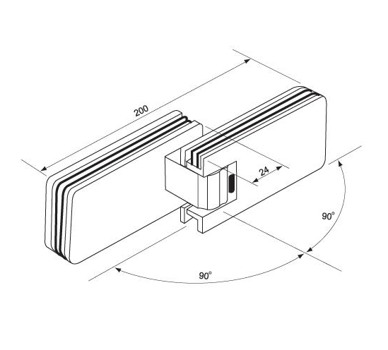 Unique 9508 Glass to Glass Shower Door Hinge 180° Fold Back - The  AC51