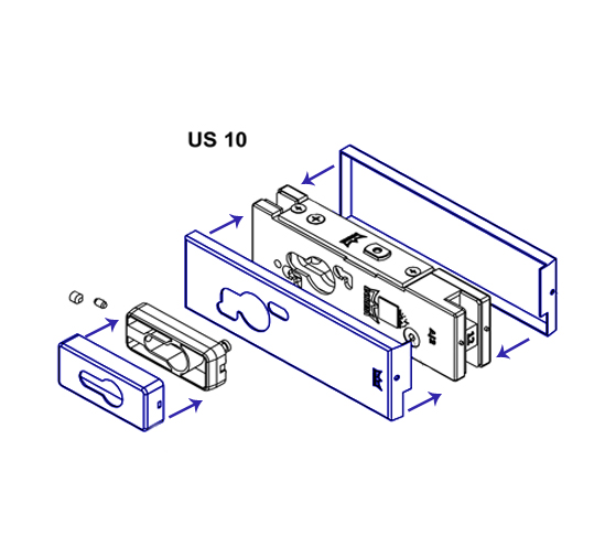 Dorma Us10 Patch Lock Cover Plates The Wholesale Glass