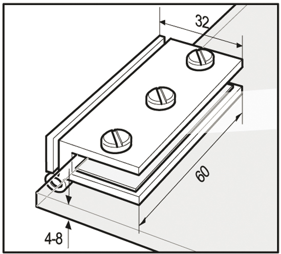 Garage Framing Kit 201 W31574: Cabinet Glass To Wall Hinge For Inset Doors (32 X 60mm