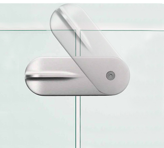 Stainless Steel Glass To Glass Door Lock For Gates And Balustrade